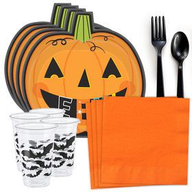 Halloween Pumpkin Standard Tableware Kit (Serves 8)