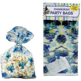 Hanukkah Cellophane Party Bags (12 Count)