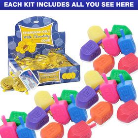 Hanukkah Gelt and Dreidel Kit
