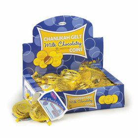 Hanukkah Milk Chocolate Gelt 4pcs (24ct)