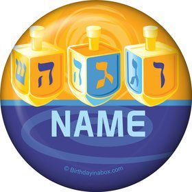 Hanukkah Personalized Mini Button (Each)