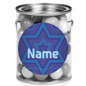 Hanukkah Personalized Mini Paint Cans (12 Count)