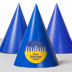Hanukkah Personalized Party Hats (8 Count)