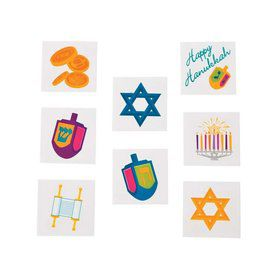 Hanukkah Tattoos (36 Count)
