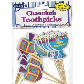 Hanukkah Toothpicks (24 Pack)