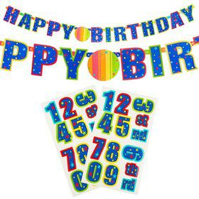 Happy Birthday 7.5Ft. Customizable Paper Banner (Each)