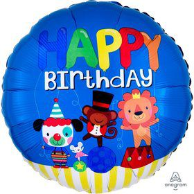 Happy Birthday Circus Fun Foil Balloon