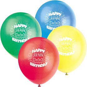 Happy Birthday Latex Balloons (8-Pack)