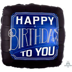 Happy Birthday Man 28 Jumbo Foil Balloon