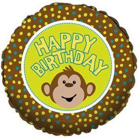 Happy Birthday Monkey Balloon (each)
