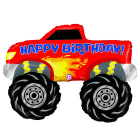 Happy Birthday Monster Truck Jumbo Foil Balloon