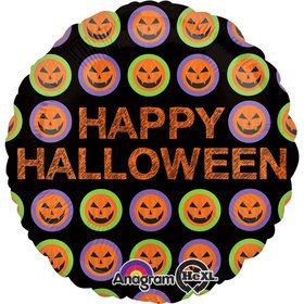 Happy Halloween Eyes 18 Inch Balloon (Each)