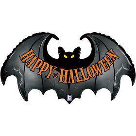 Happy Halloween Spooky Bat 42 Inch Balloon (Each)
