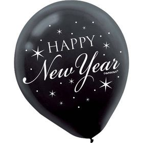 "Happy New Year 12"" Latex Balloons (15 Count)"