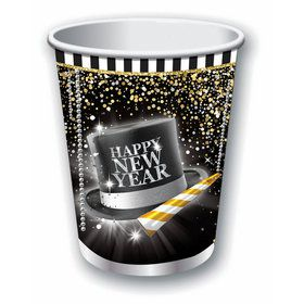 Happy New Year 9oz Paper Cups (8)