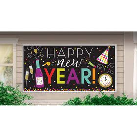 Happy New Year Colorful Plastic Banner (1)