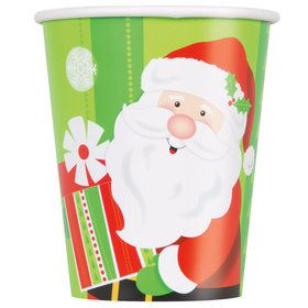 Happy Santa 9oz Cups (8 Count)