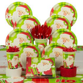 Happy Santa Deluxe Christmas Tableware Kit (Serves 8)