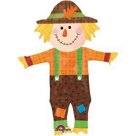 "Happy Scarecrow 38"" Fall Balloon (Each)"