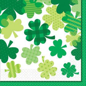 Happy St. Patrick's Day Bloom Lunch Napkin (36)