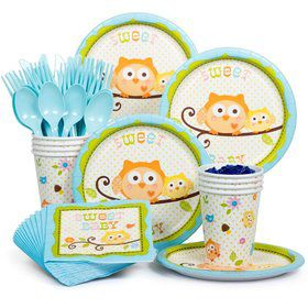 Happy Tree Blue Party Standard Tableware Kit Serves 8
