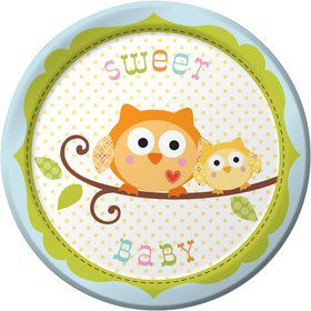Happy Tree Cake Plates - Boy (8 Pack)