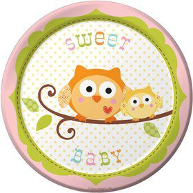 Happy Tree Cake Plates - Girl (8 Pack)