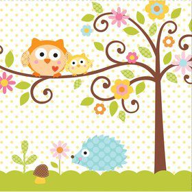 Happy Tree Luncheon Napkins (16 Pack)