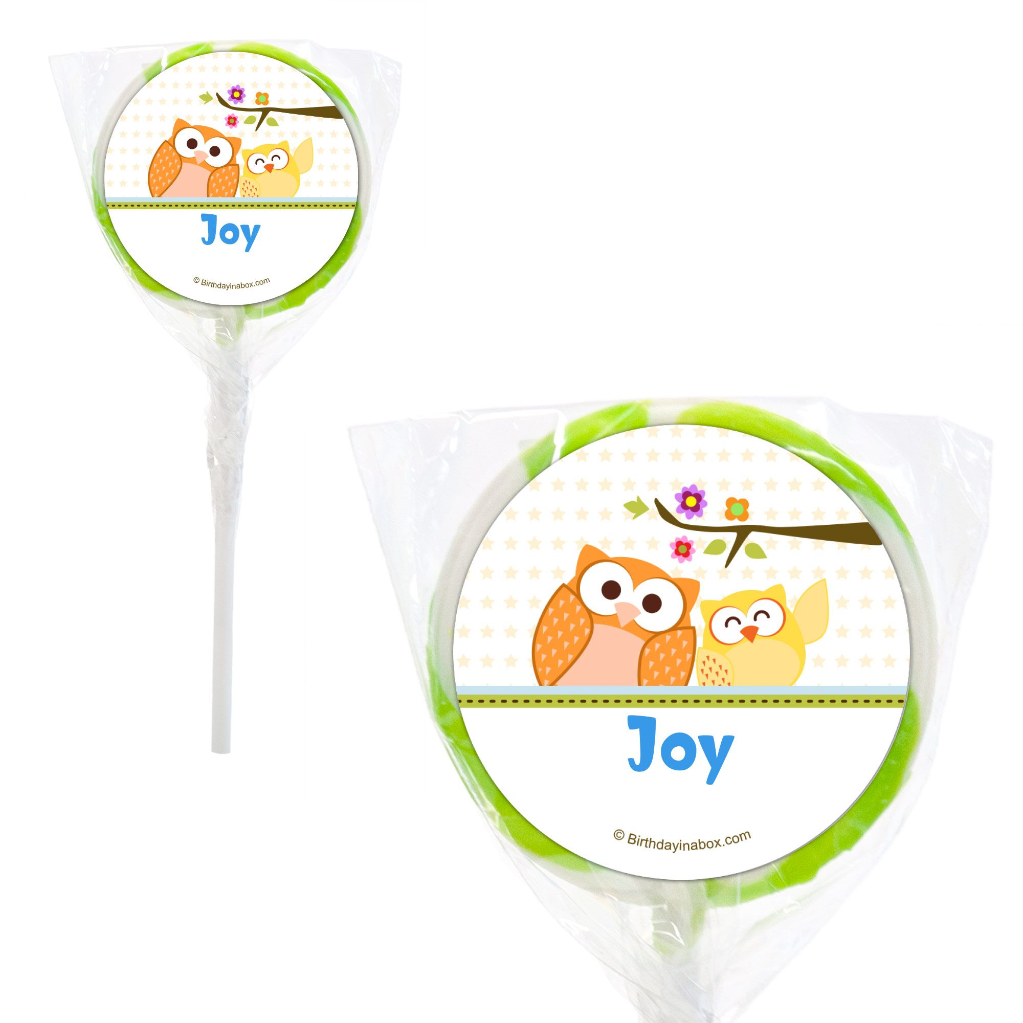 """Happy Tree Personalized 2"""" Lollipops (20 Pack) BB114PPS"""
