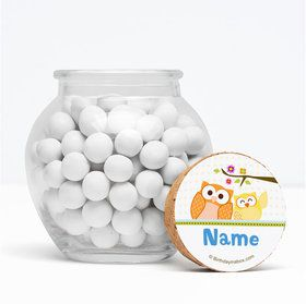 """Happy Tree Personalized 3"""" Glass Sphere Jars (Set of 12)"""