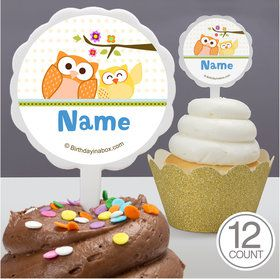 Happy Tree Personalized Cupcake Picks (12 Count)