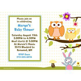 Happy Tree Personalized Invitation (Each)