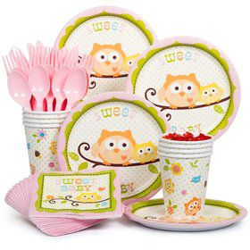 Happy Tree Pink Party Standard Tableware Kit Serves 8