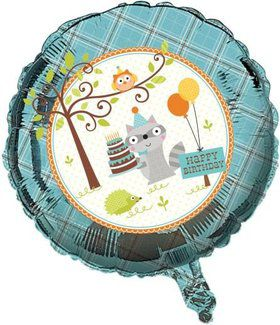 "Happy Woodland Boy 18"" Balloon (Each)"