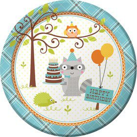 "Happy Woodland Boy 9"" Luncheon Plates (8 Pack)"