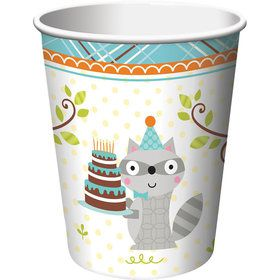 Happy Woodland Boy 9oz Cups (8 Pack)