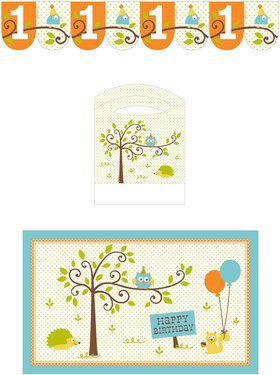 Happy Woodland Boy Highchair Decorating Kit (Each)