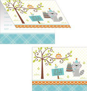 Happy Woodland Boy Invitations (8 Pack)