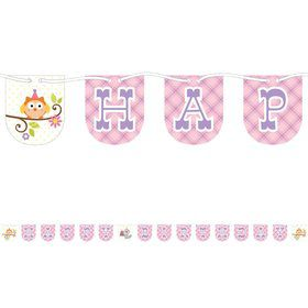 Happy Woodland Girl 7ft. Ribbon Banner (Each)