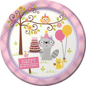 "Happy Woodland Girl 9"" Luncheon Plates (8 Pack)"