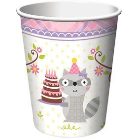 Happy Woodland Girl 9oz Cups (8 Pack)