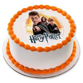 "Harry Potter 7.5"" Round Edible Cake Topper (Each)"