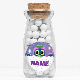 "Hatching Animals Personalized 4"" Glass Milk Jars (Set of 12)"
