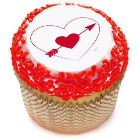 "Heart and Arrow 2"" Edible Cupcake Topper (12 Images)"