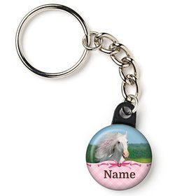"Heart My Horse Personalized 1"" Mini Key Chain (Each)"