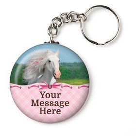 "Heart My Horse Personalized 2.25"" Key Chain (Each)"