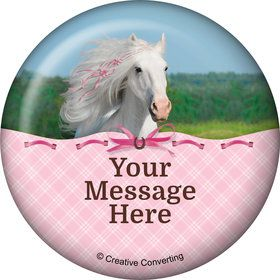 Heart My Horse Personalized Button (Each)