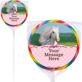 Heart My Horse Personalized Lollipops (12 Pack)