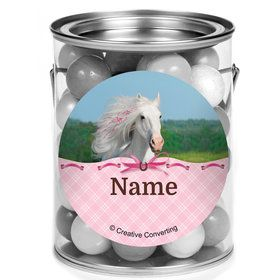Heart My Horse Personalized Mini Paint Cans (12 Count)
