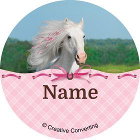 Heart My Horse Personalized Mini Stickers (Sheet of 24)